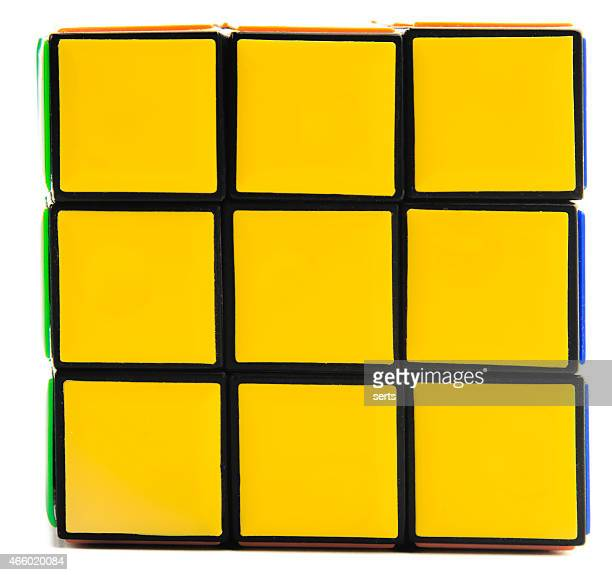 Yellow side of Rubik's Cube