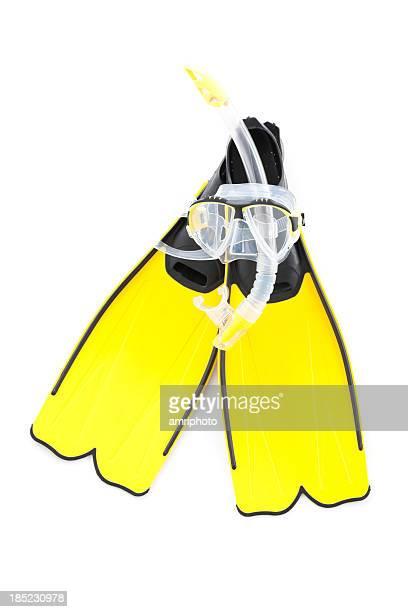 Gelbe Schnorcheln set