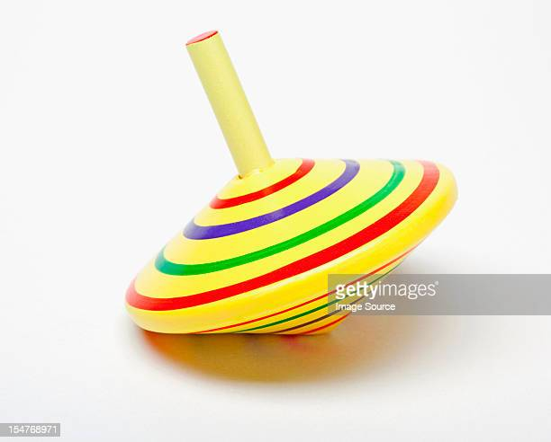 Yellow spinning top