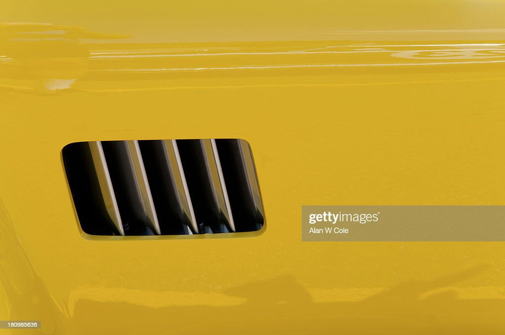 Yellow sport car fender