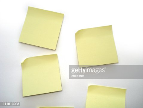 Yellow sticky notes