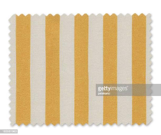 Yellow Striped Fabric Swatch