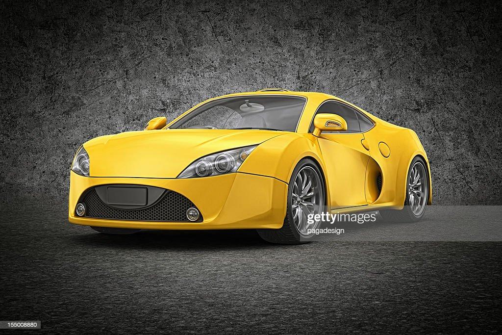 黄色 supercar : ストックフォト