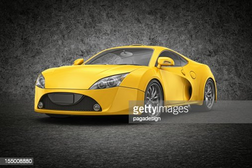 yellow supercar : Stock Photo