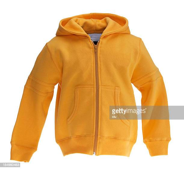 Sweat-shirt jaune sur fond blanc