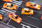 Yellow taxi cabs, New York City, USA