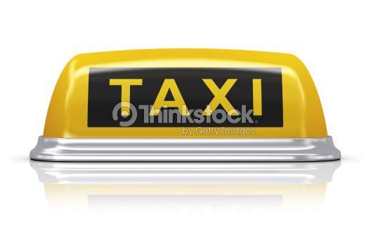 signe de voiture de taxi jaune photo thinkstock. Black Bedroom Furniture Sets. Home Design Ideas