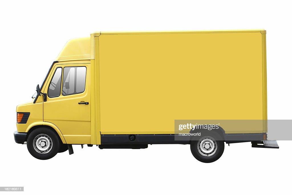 Yellow Transporter For Branding Isolated On White