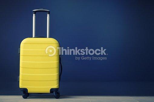 Yellow travel bag. : Stock Photo