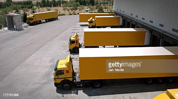 Yellow Trucks Aligned