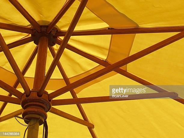 Yellow umbrella abstract