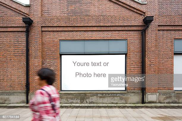 Yellow vintage brick wall with copyspace for your text or photo