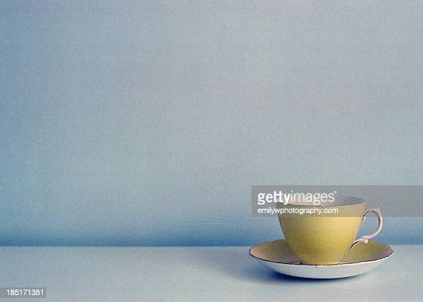 yellow vintage teacup