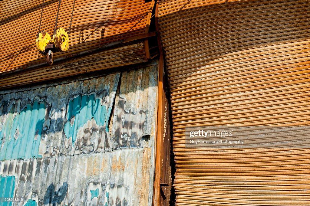 Yellow winch : Stock Photo