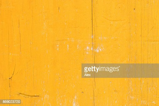 Yellow wooden background texture : Stock Photo