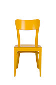 Old Style Yellow Wooden Chair