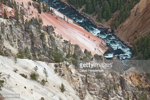 Yellowstone River and Grand Canyon, Wyoming, USA : Bildbanksbilder