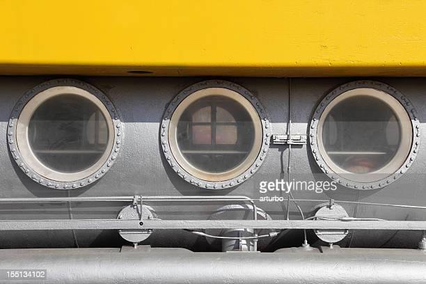 yelow tourist submarine porthole