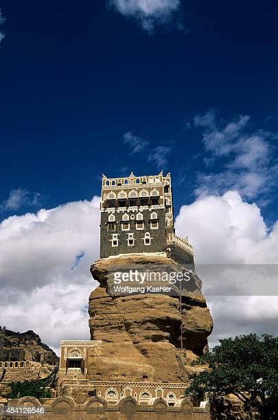 Yemen Near Sana'a Asir Mountains Wadi Dhahr Rock Palace