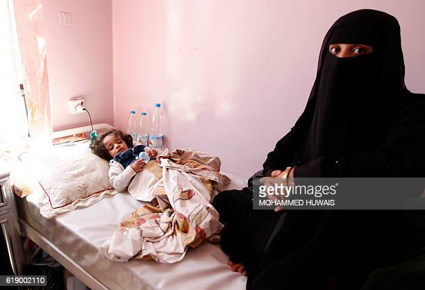 A Yemeni child receives treatment at a hospital in the capital Sanaa on October 29 2016 / AFP / MOHAMMED HUWAIS