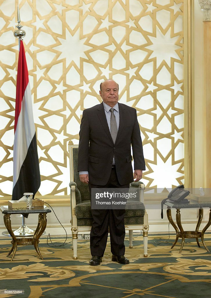 Yemeni President Abd Rabbuh Mansour Hadi on October 19, 2015 in Riad, Saudi Arabia.