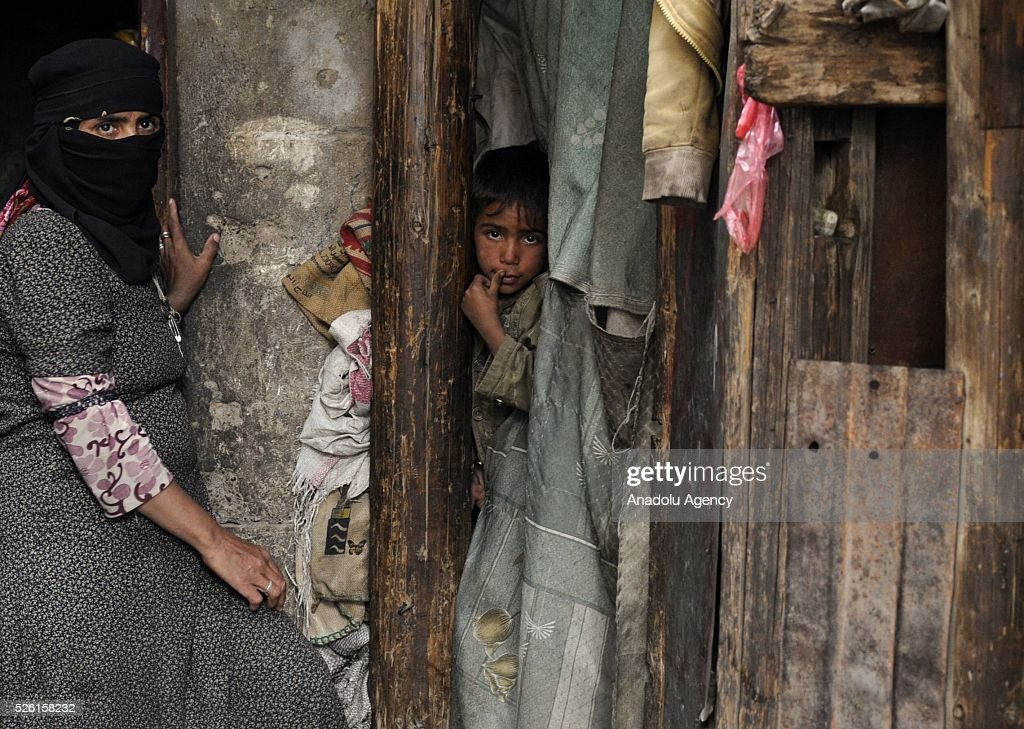Yemenis are seen in the Shwaob neighborhood as the political crisis in the country continues in Sanaa, Yemen on April 29, 2016.