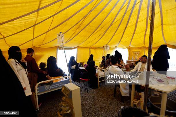 Yemenis infected with cholera wait for treatment at Sabaeen Hospital in Sanaa on June 13 2017 Six weeks into the second outbreak of the deadly...