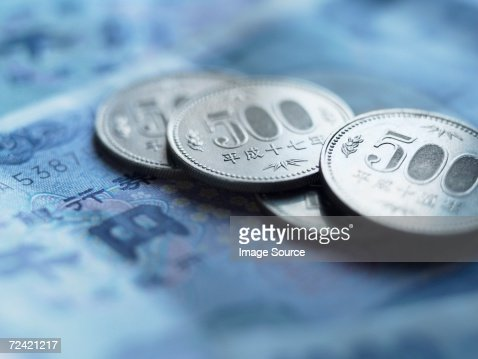 Yen coins and banknotes