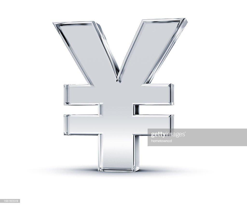 Simbolo di Yen : Foto stock