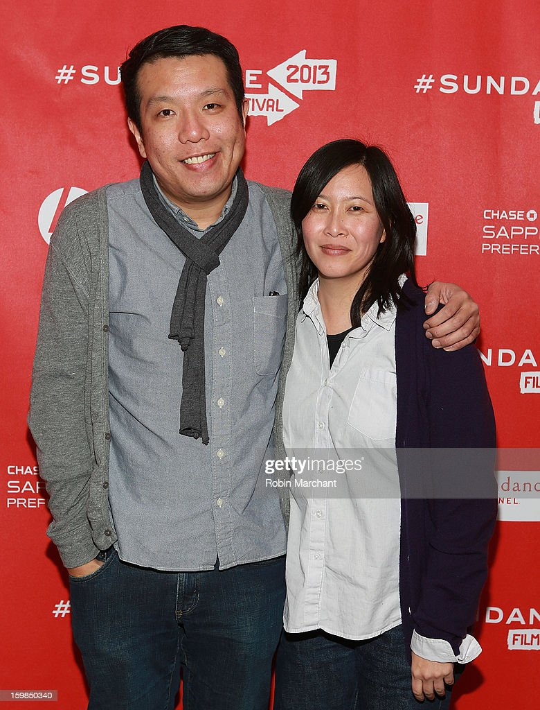 Yen Tan (L) and Kim Yutani attends 'Pit Stop' Premiere at Prospector Square on January 21, 2013 in Park City, Utah.