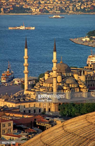 Yeni Mosque and the Sea of Marmara in Istanbul