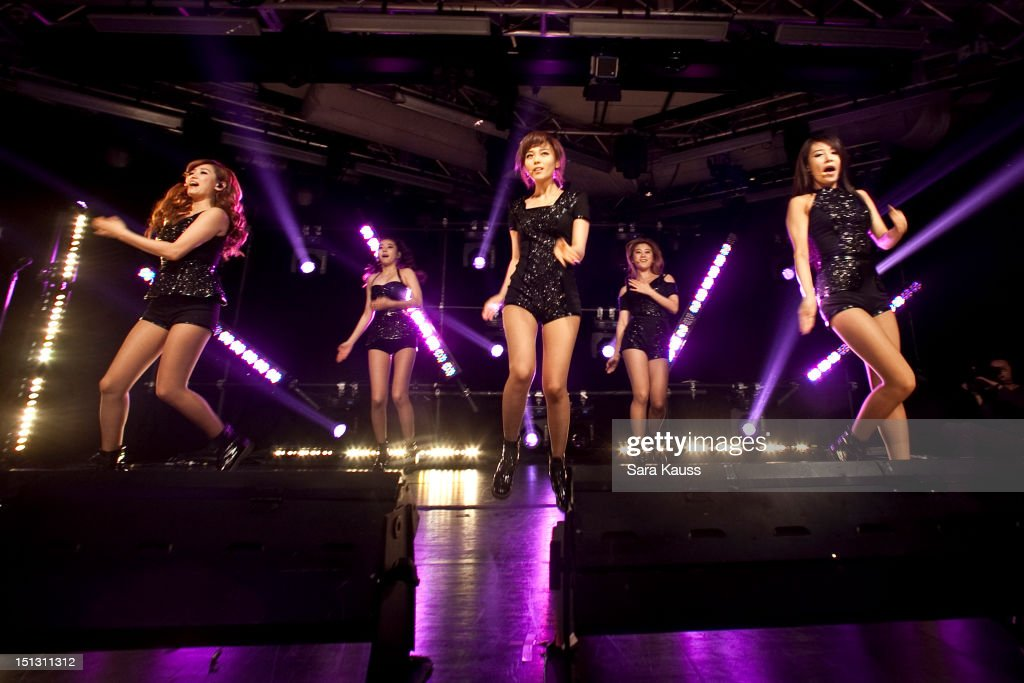 Yenny, Sohee, Sun, Lim and Yubin of Wonder Girls perform onstage at iHeartRadio Presents Wonder Girls at iHeartRadio Performance Theater on September 5, 2012 in New York City.