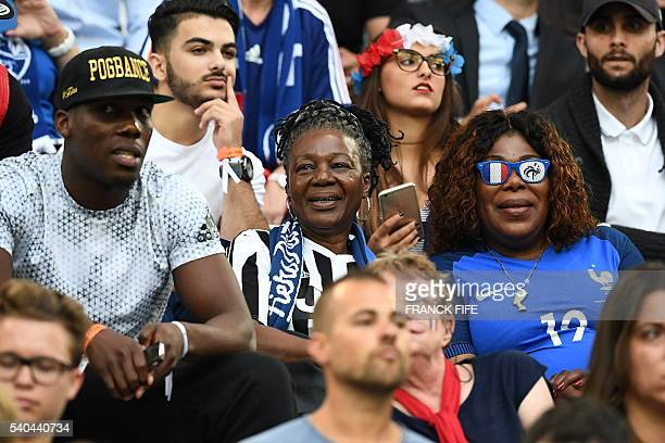 Yeo Moriba the mother of footballer Paul Pogba looks on during the Euro 2016 group A football match between France and Albania at the Velodrome...