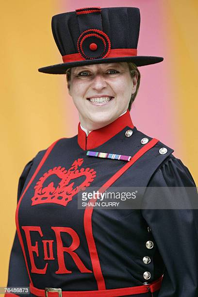 Yeoman Warder Moira Cameron starts work as the first female 'Beefeater' at the Tower of London 03 September 2007 She becomes the first female in the...