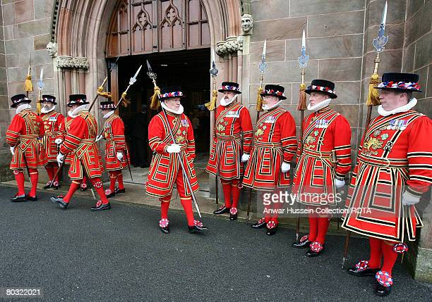 Yeomen of the Guard parade during the traditional Maundy Service at St Patrick's Cathedral on March 20 2008 in Armagh City Northern Ireland