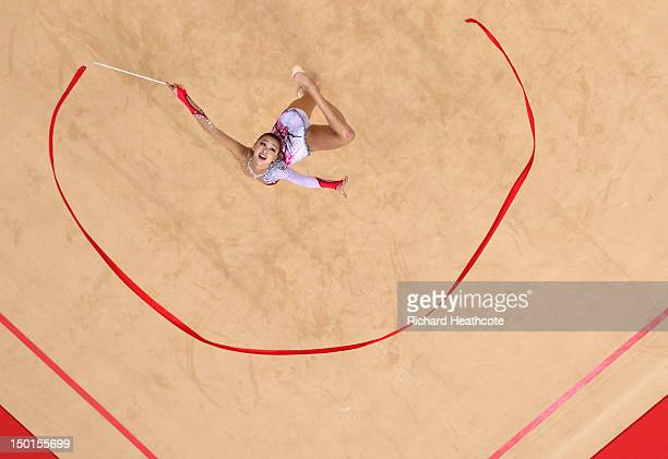 Yeon Jae Son of Korea competes during the Individual AllAround Rhythmic Gymnastics final on Day 15 of the London 2012 Olympics Games at Wembley Arena...