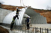 Yeonpeyong Island South Korea Workers construct a bomb shelter on South Korea's Yeonpeyong Island in the Yellow Sea near the disputed western sea...
