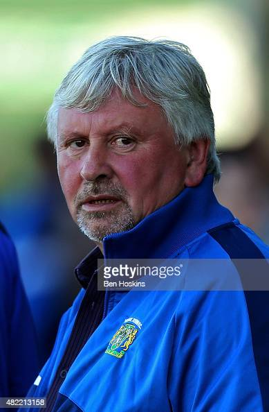 Yeovil manager Paul Sturrock looks on ahead of a Pre Season Friendly between Yeovil Town and AFC Bournemouth at Huish Park on July 28 2015 in Yeovil...