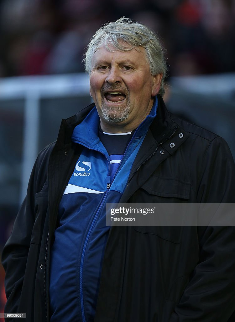 yeovil Town manager Paul Sturrock looks on during the Sky Bet League Two match between Northampton Town and Yeovil Town at Sixfields Stadium on...