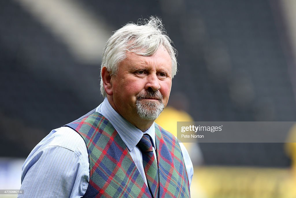 Yeovil Town manager Paul Sturrock looks on prior to the Sky Bet League One match between MK Dons and Yeovil Town at Stadium mk on May 3 2015 in...