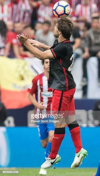 Yeray Alvarez Lopez of Athletic Club in action during the La Liga match between Atletico de Madrid and Athletic de Bilbao at the Estadio Vicente...