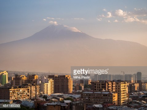 Yerevan with mount Ararat in background