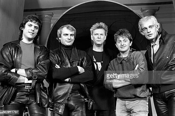 Yes at the Parker Meridien Hotel in New York City on December 9 1983 LR Trevor Rabin Alan White Chris Squire Jon Anderson Tony Kaye