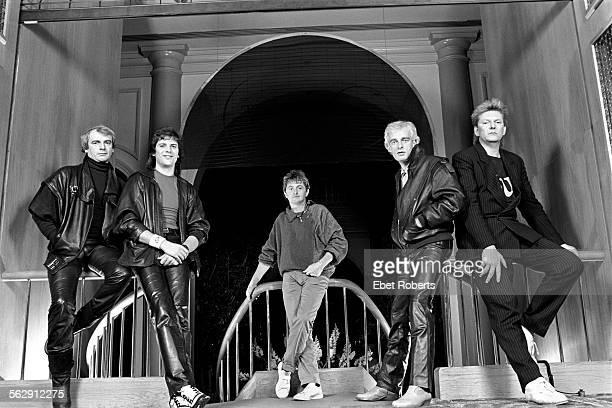 Yes at the Parker Meridien Hotel in New York City on December 9 1983 LR Alan White Trevor Rabin Jon Anderson Tony Kaye Chris Squire