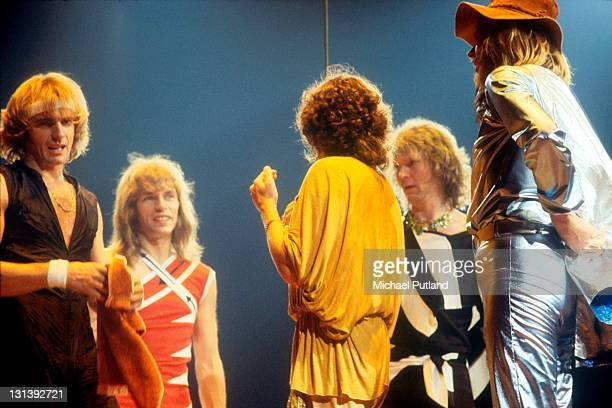 Yes perform on stage at Madison Square Garden New York September 1978 Alan White Steve Howe Jon Anderson Chris Squire Rick Wakeman