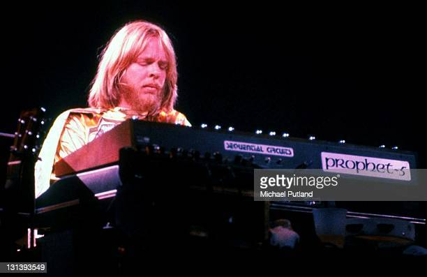 Yes perform on stage at Madison Square Garden New York September 1978 Rick Wakeman He plays a Sequential Circuits Prophet 5 synthesiser