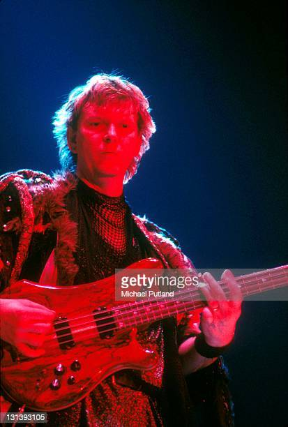 Yes perform on stage UK July 1984 Chris Squire