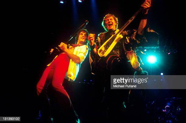 Yes perform on stage UK July 1984 Trevor Rabin Chris Squire