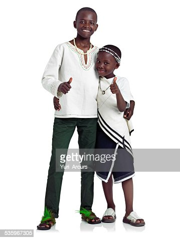 Yes to a happy childhood : Stock Photo