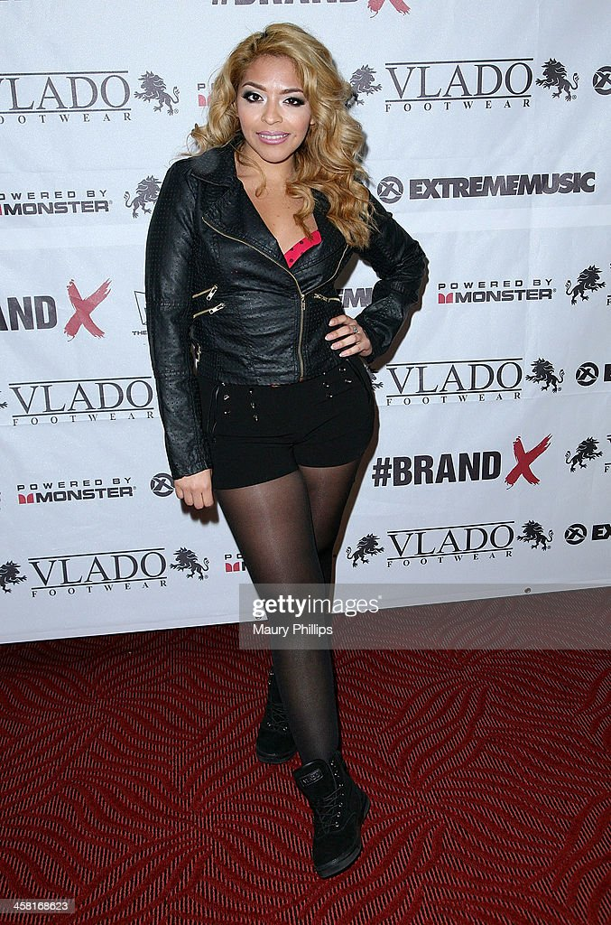 Yesi Ortiz attends Brand X Live with Eric Bellinger at the El Rey Theatre on December 19, 2013 in Los Angeles, California.
